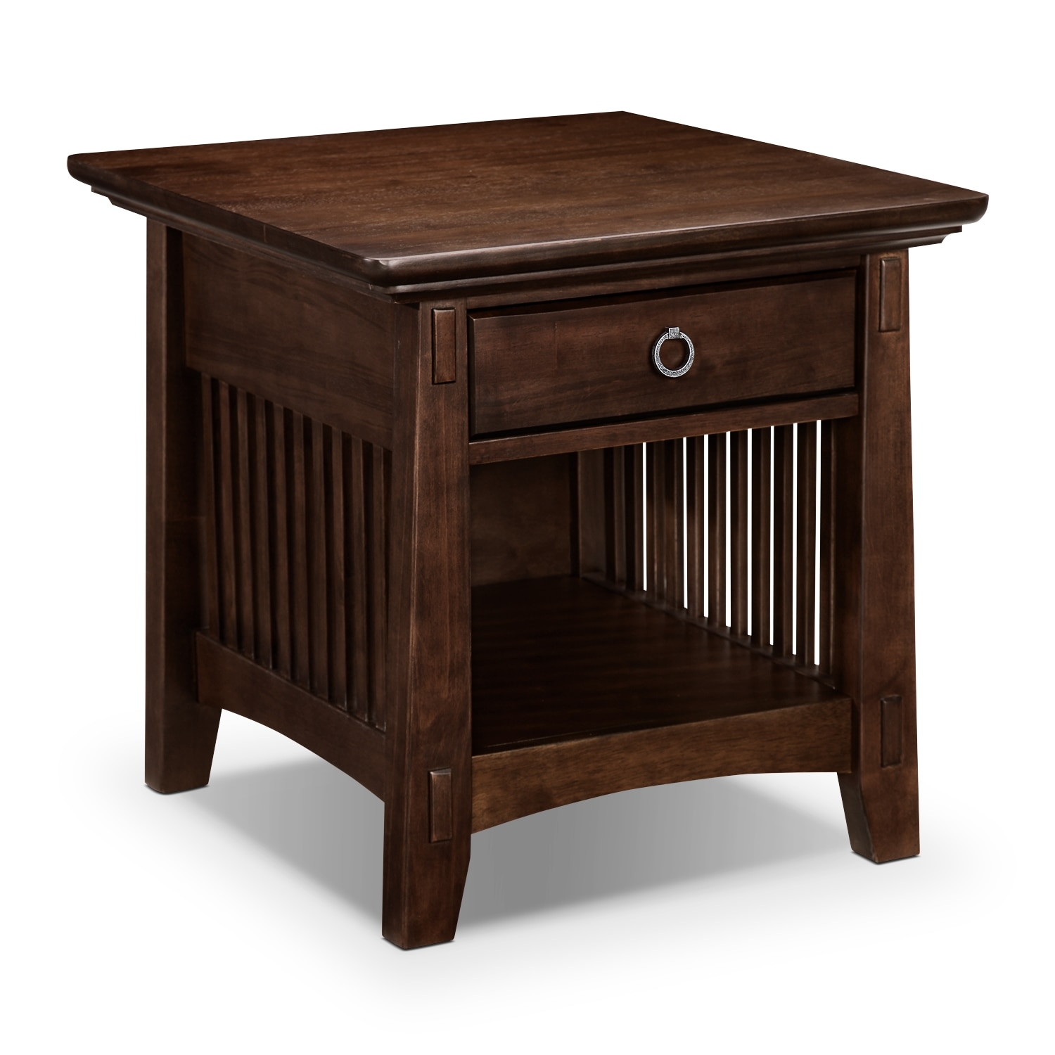 Arts and crafts furniture -  279 99 Arts Crafts End Table Chocolate