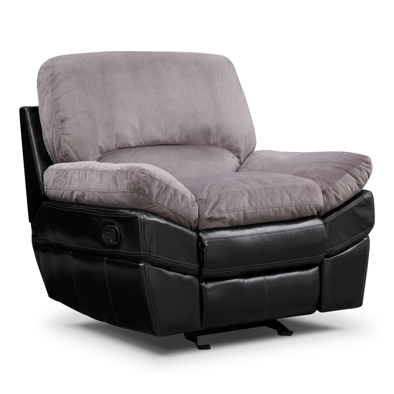 Chandler Gray Glider Recliner