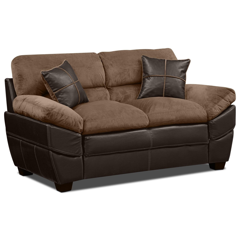 Living Room Furniture - Chandler Beige Loveseat