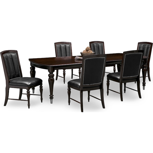 esquire table and 6 chairs cherry american signature