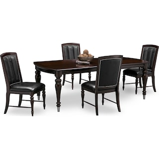 Esquire Dining Table and 4 Dining Chairs - Cherry