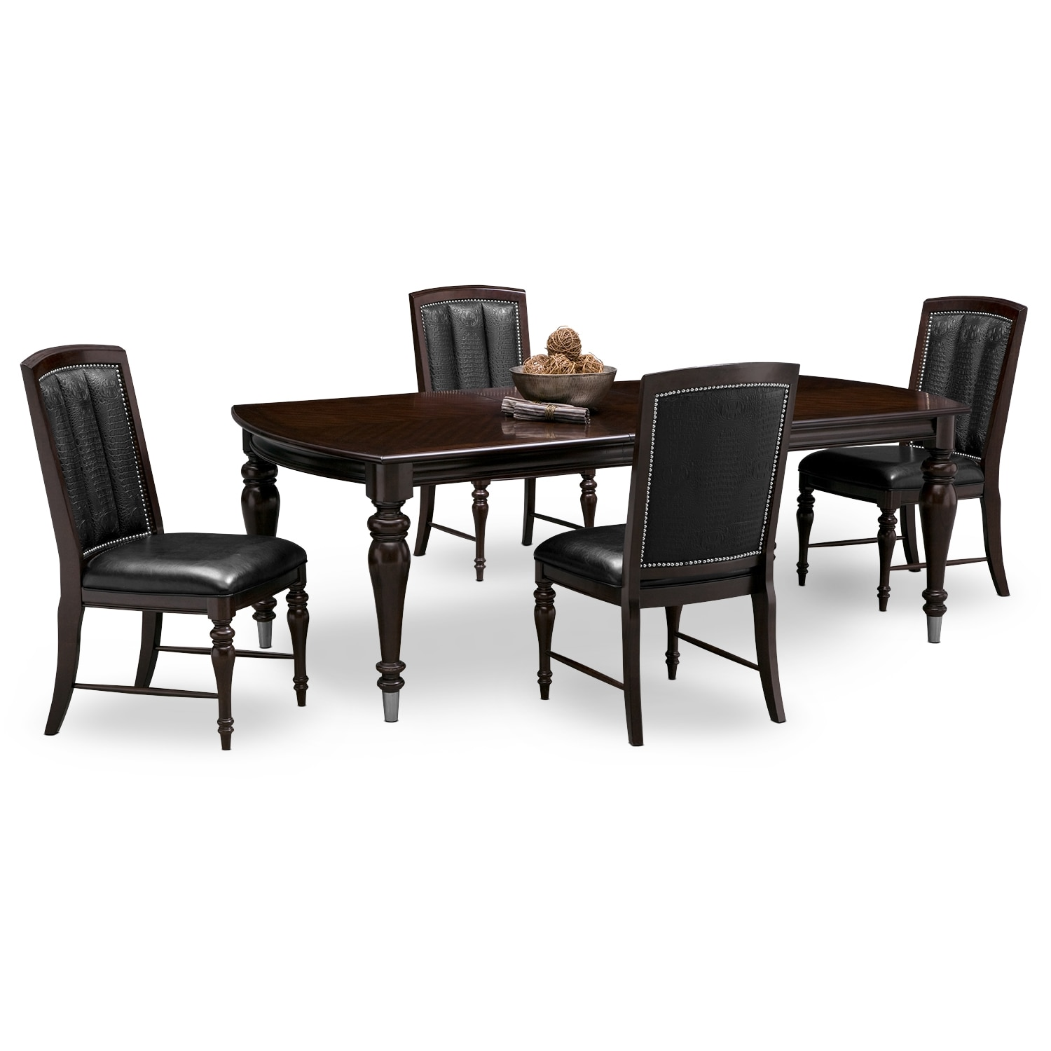 Was $1,189.95 Today $1,070.96 Esquire Table And 4 Chairs   Cherry By American  Signature