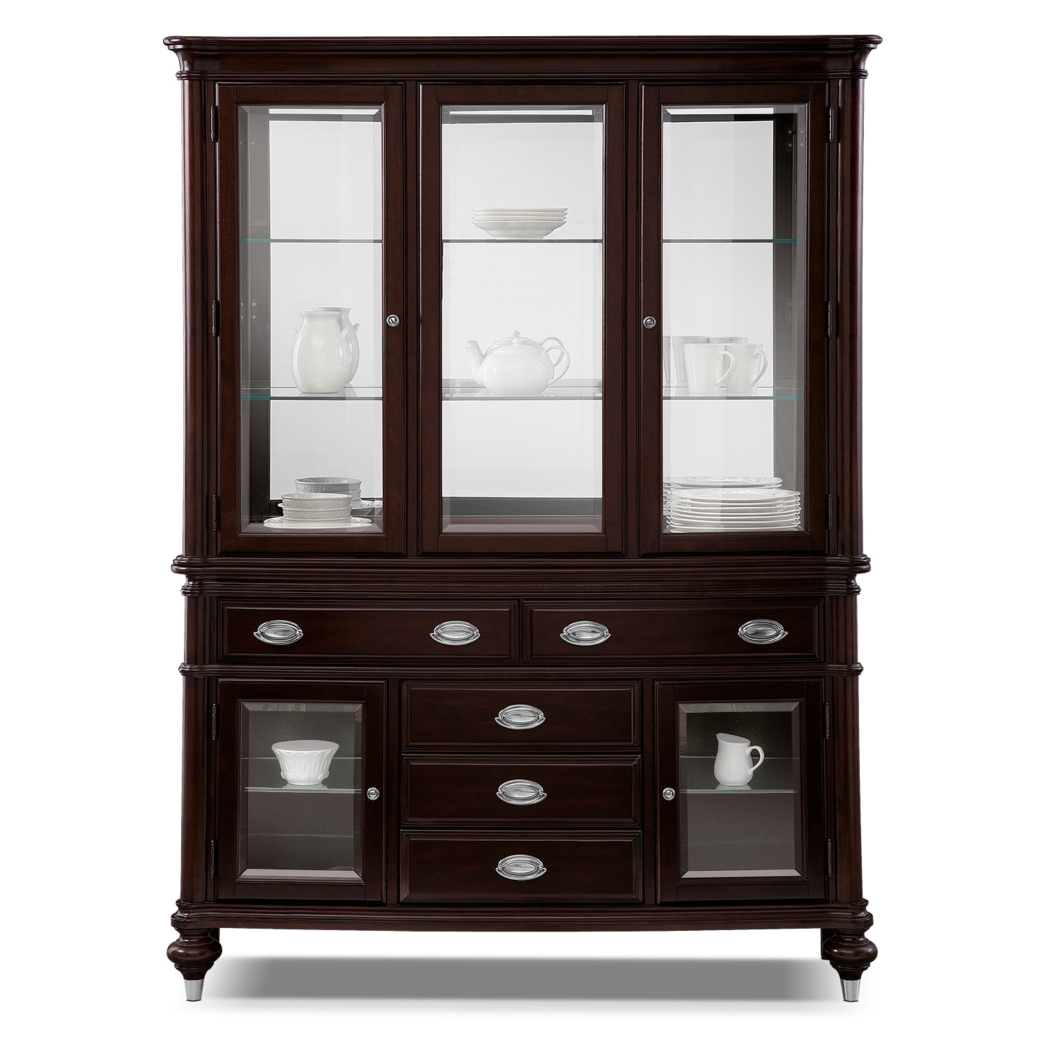 ... Esquire Buffet And Hutch   Cherry