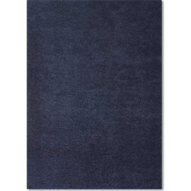 Rugs - Domino Shag 5' x 8' Area Rug - Blue