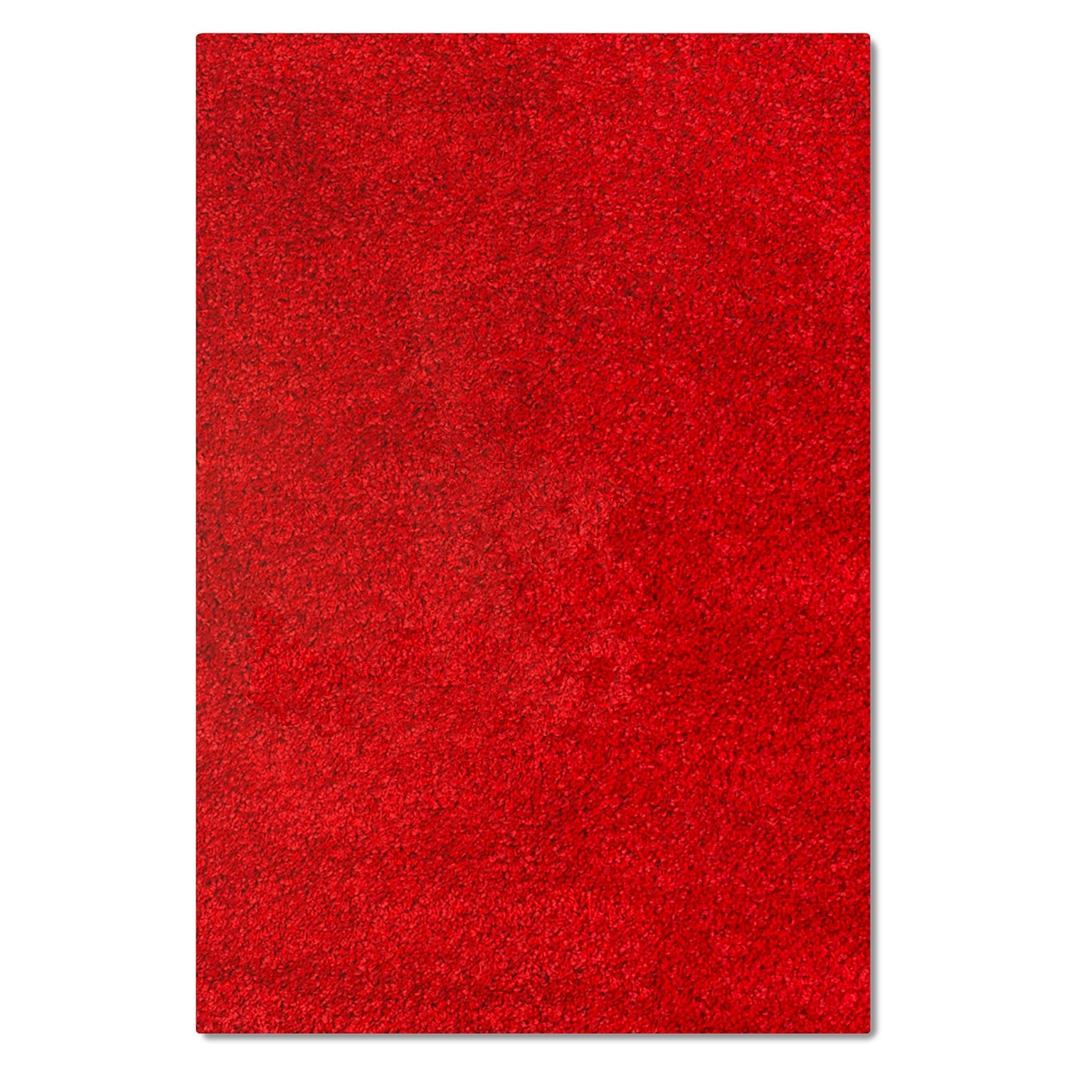 Comfort Red Shag Area Rug (5' x 8')