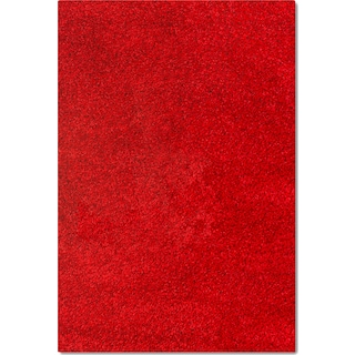 Comfort Shag 5' x 8' Area Rug - Red
