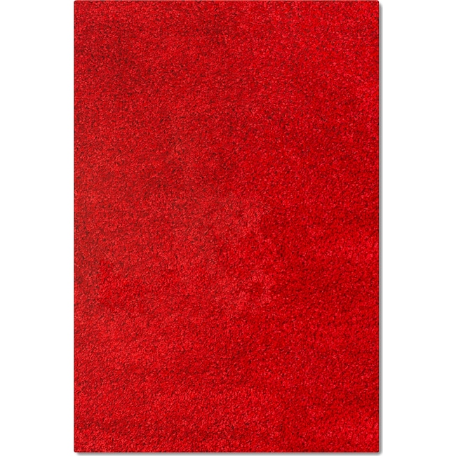 Rugs - Comfort Shag 8' x 10' Area Rug - Red