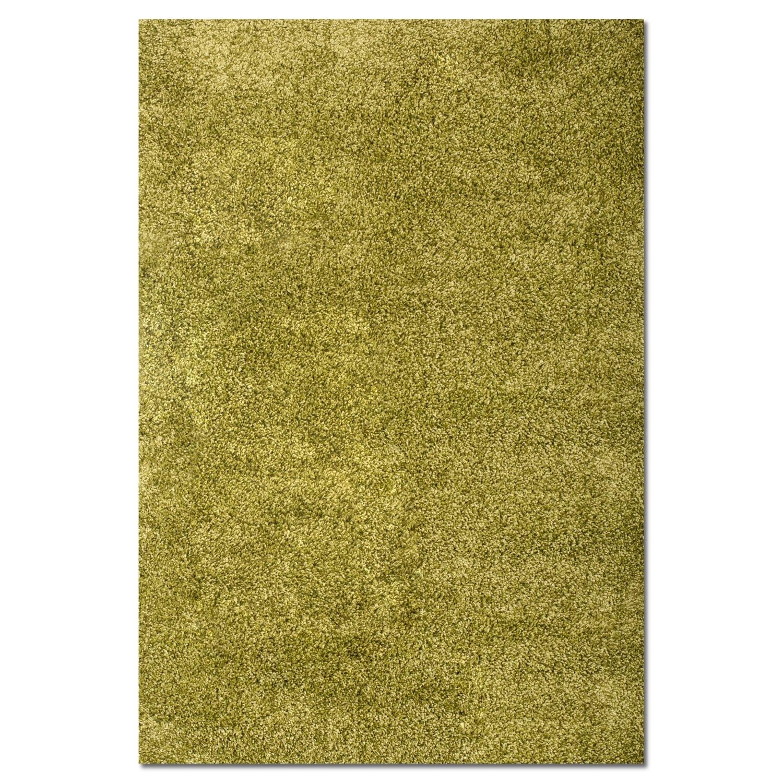 Rugs - Comfort Green Shag Area Rug (8' x 10')