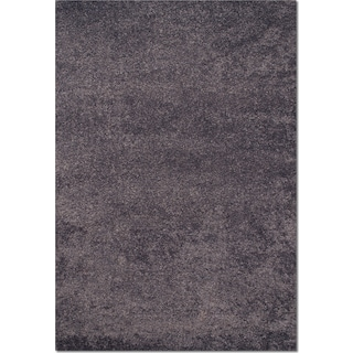 Comfort Slate Blue Shag Area Rug (5' x 8')