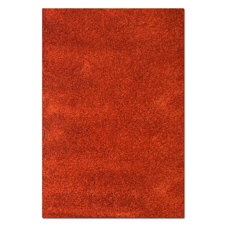 Rugs - Comfort Rust Shag Area Rug (5' x 8')
