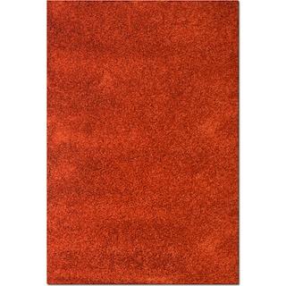 Comfort Shag Area Rug - Rust