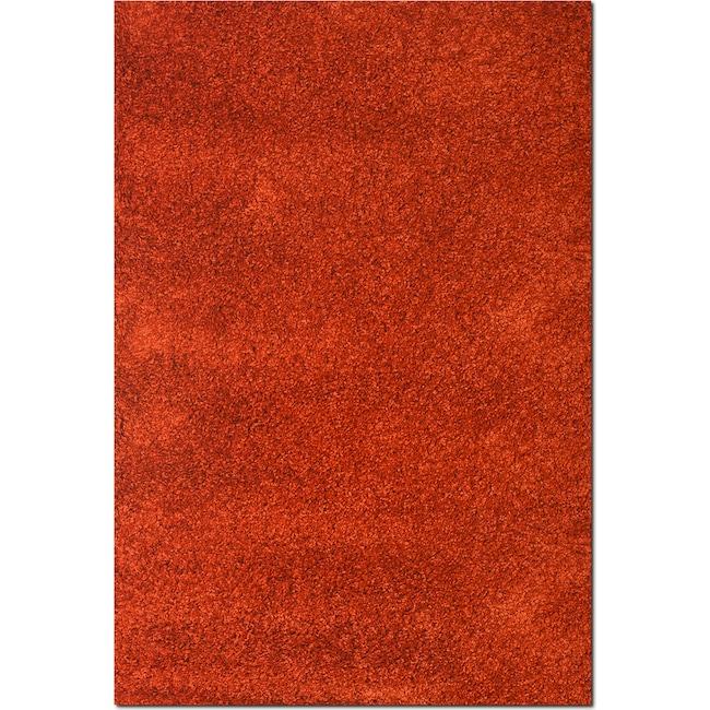 Rugs - Comfort Shag 5' x 8' Area Rug - Rust
