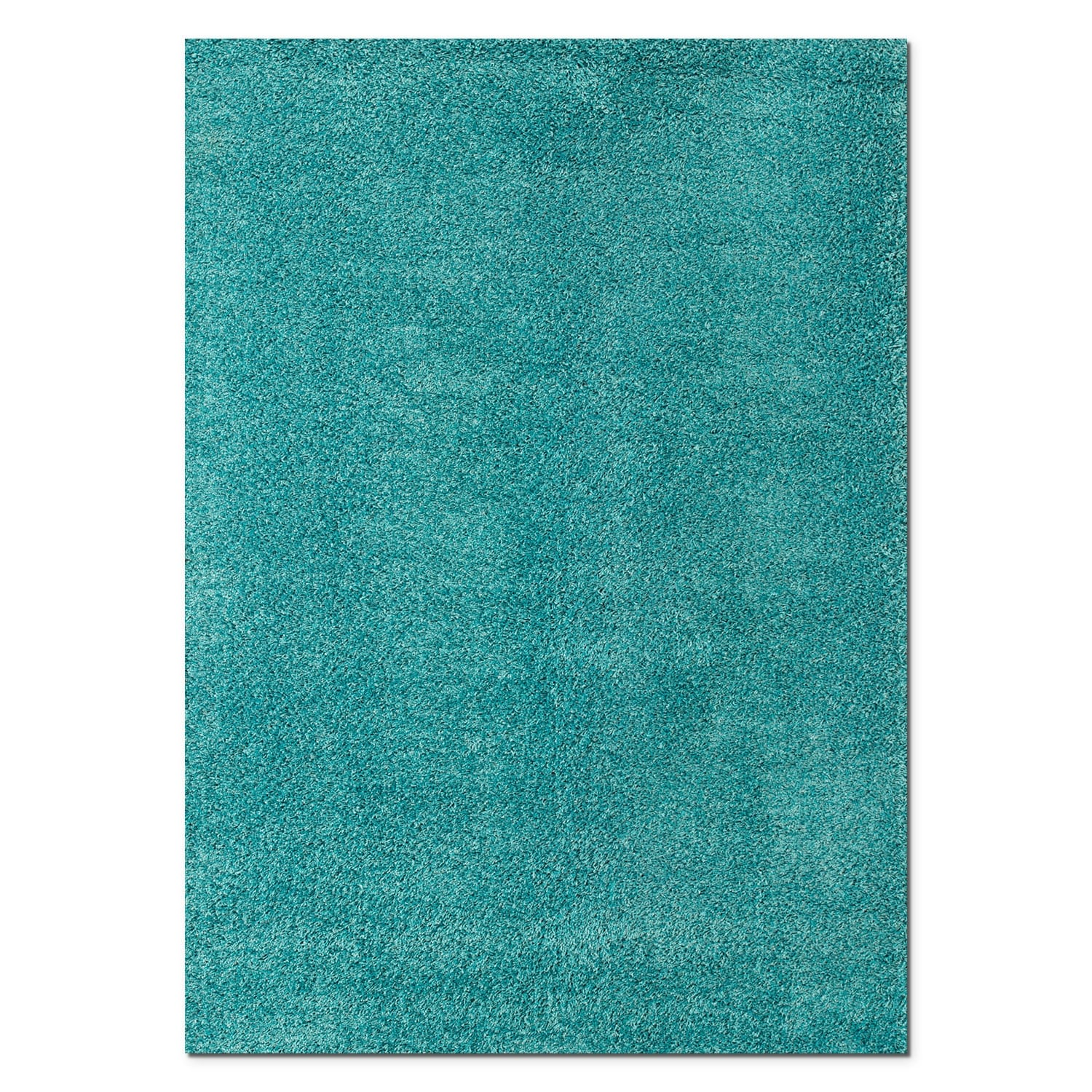 Domino Turquoise Shag Area Rug (5' x 8')