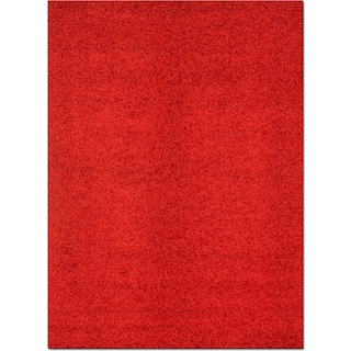Domino Shag Area Rug - Red