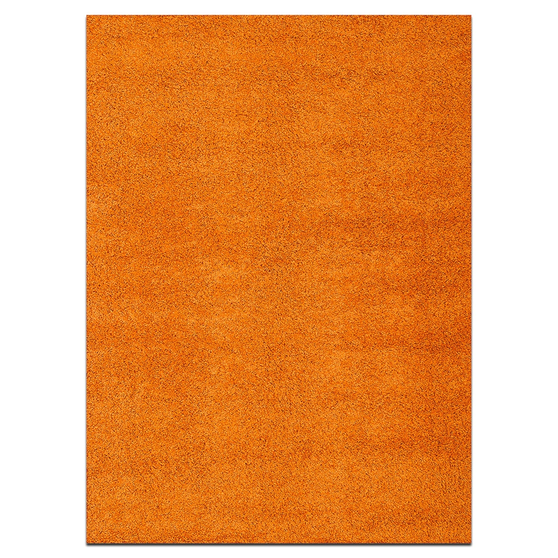 Domino Orange Shag Area Rug (5' x 8')