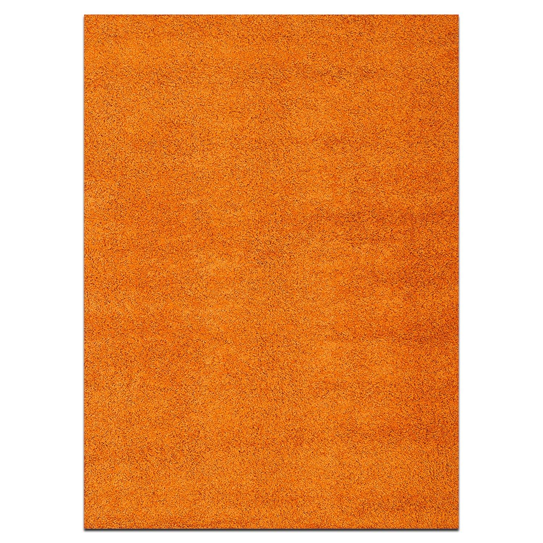 Rugs - Domino Orange Shag Area Rug (5' x 8')