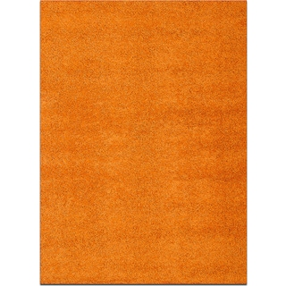 Domino Shag 5' x 8' Area Rug - Orange