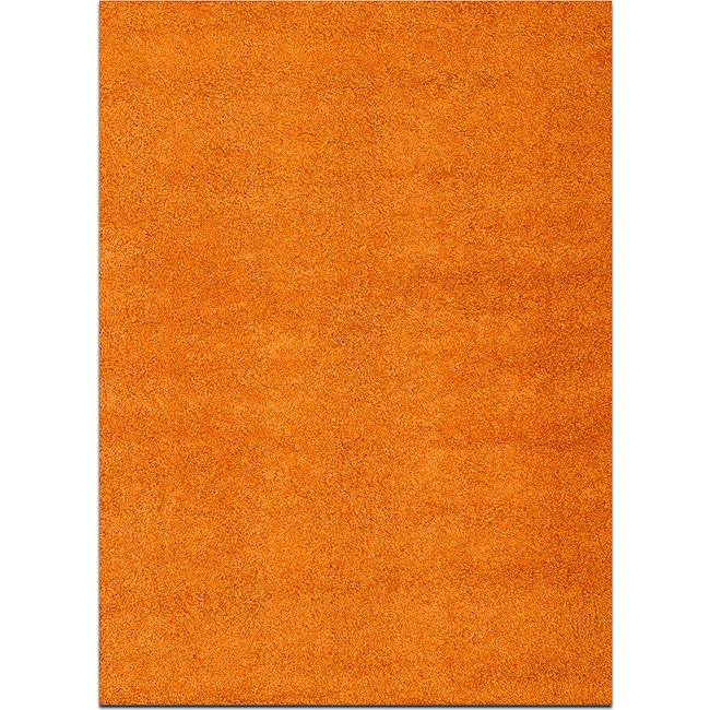 Rugs - Domino Shag 5' x 8' Area Rug - Orange