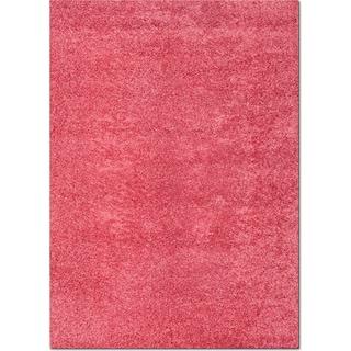 Domino Pink Shag Area Rug (5' x 8')