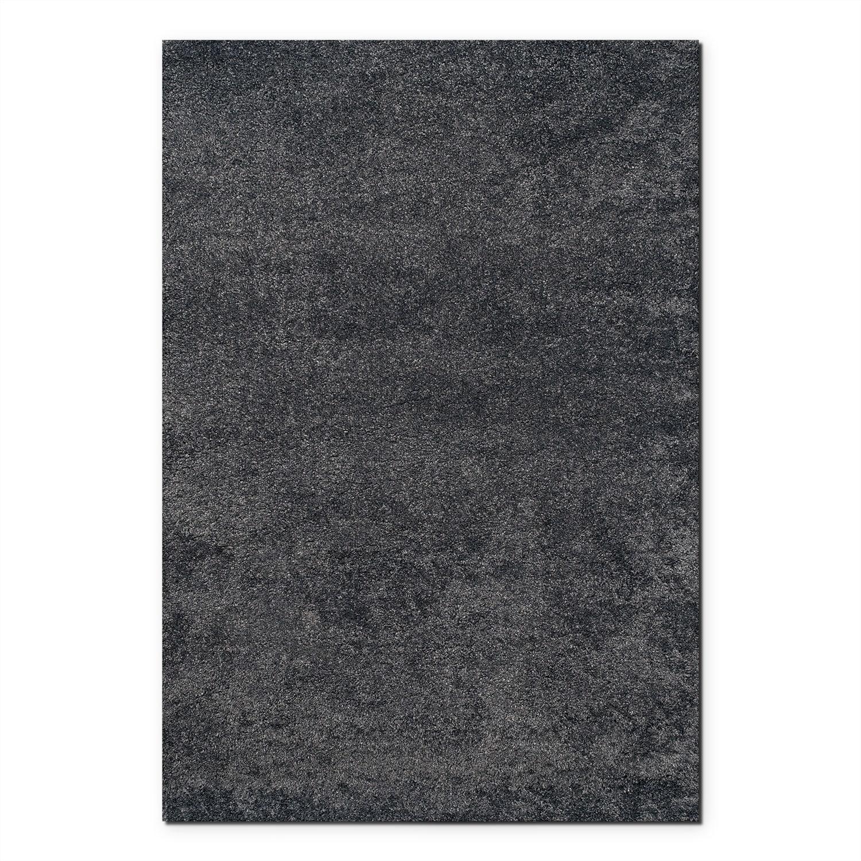 Comfort Charcoal Shag Area Rug (5' x 8')