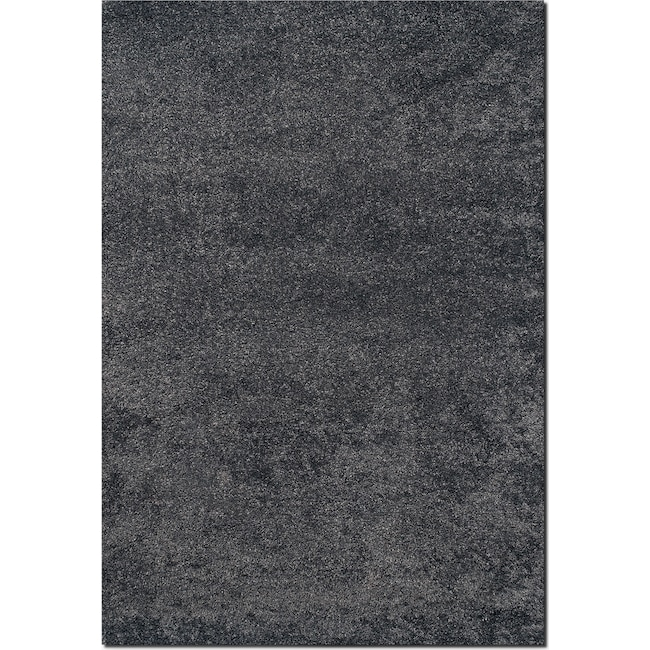 Rugs - Comfort Charcoal Shag Area Rug (5' x 8')