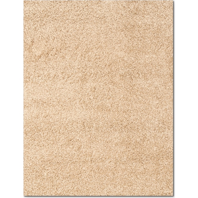 Rugs - Domino Shag 5' x 8' Area Rug - Taupe
