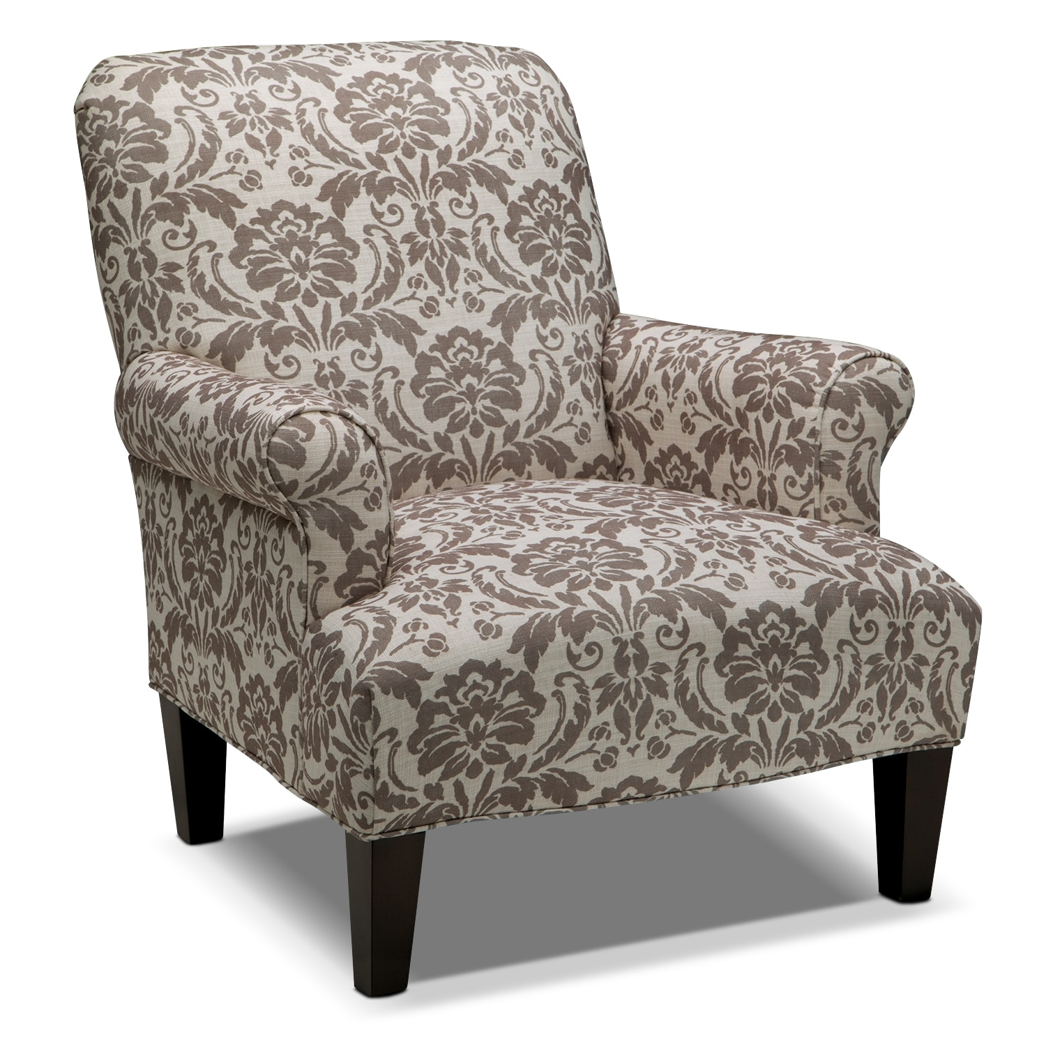 American Accent Furniture Selayang: Candice Accent Chair - Gray And Cream