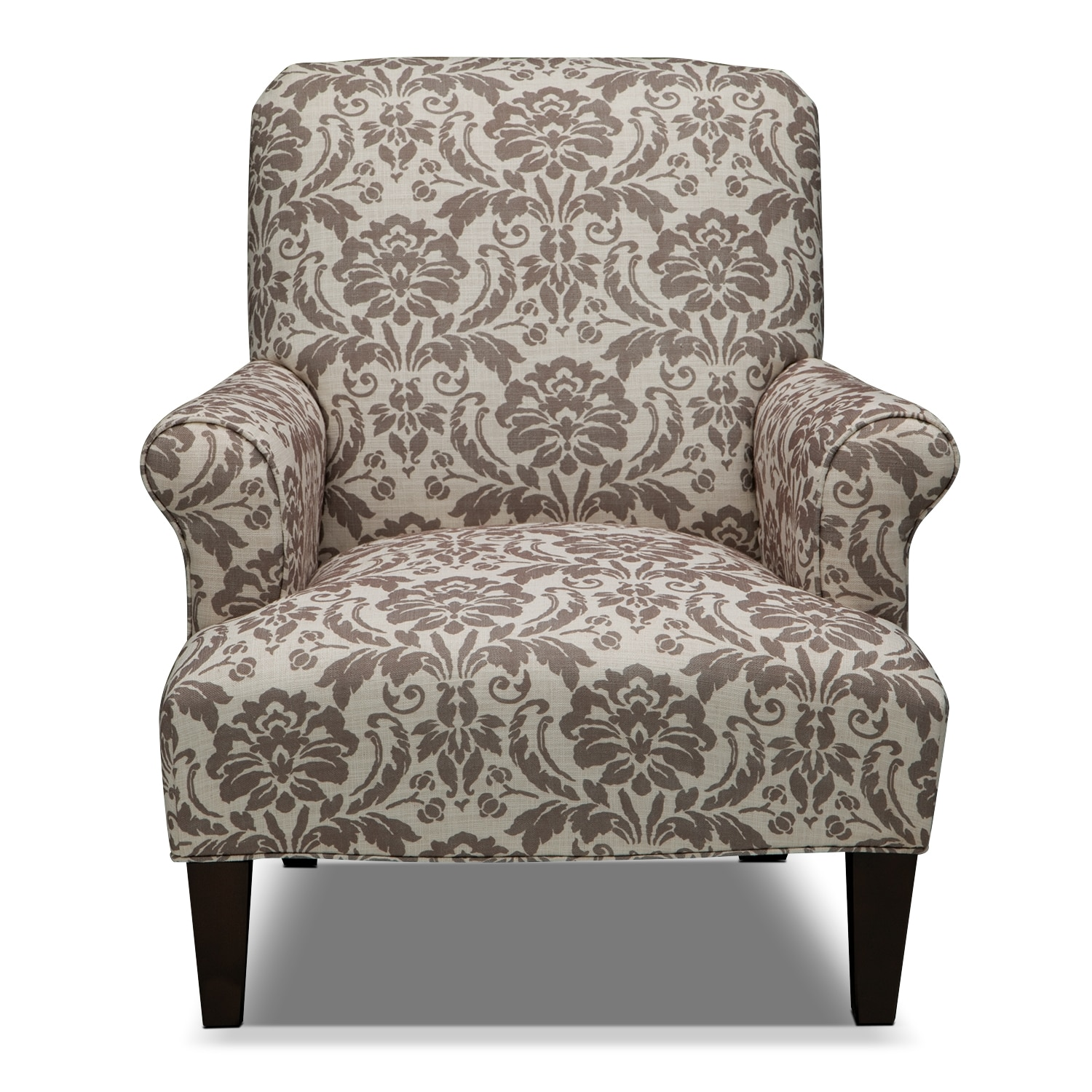 Accent Chair Made By American Furniture: Candice Accent Chair - Gray And Cream