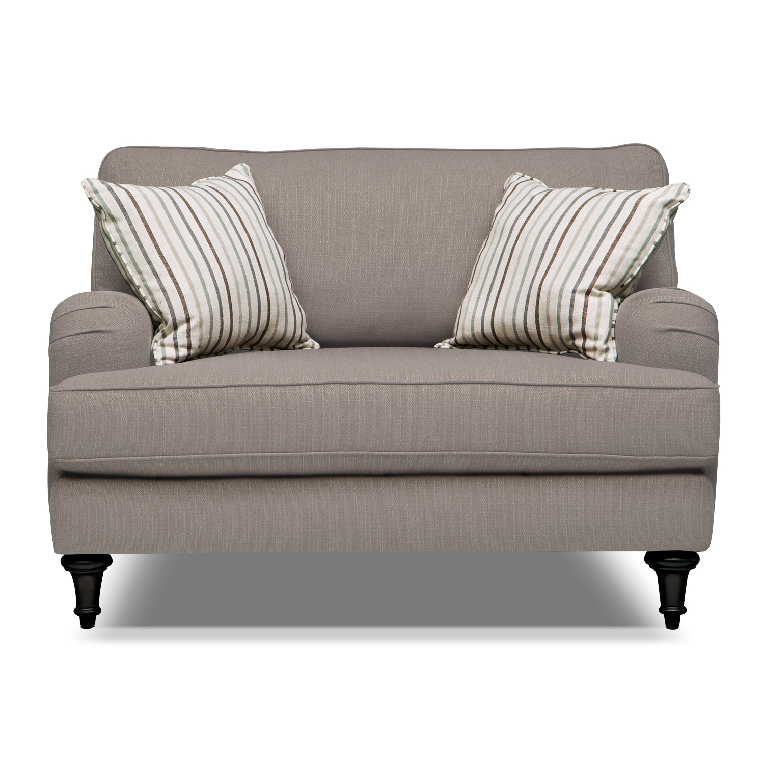 candice chair and a half gray american signature furniture