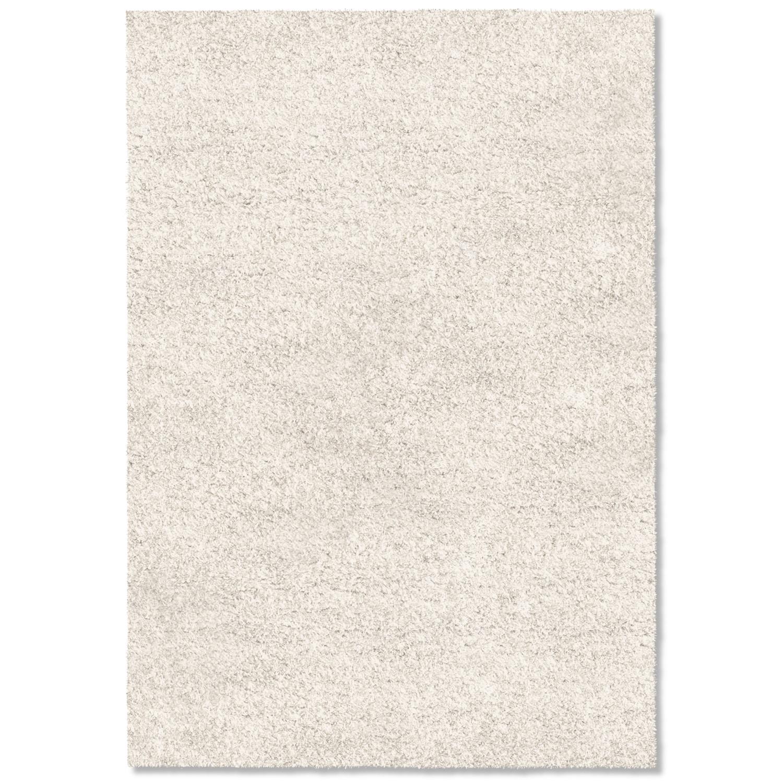 Comfort White Shag Area Rug (8' x 10')