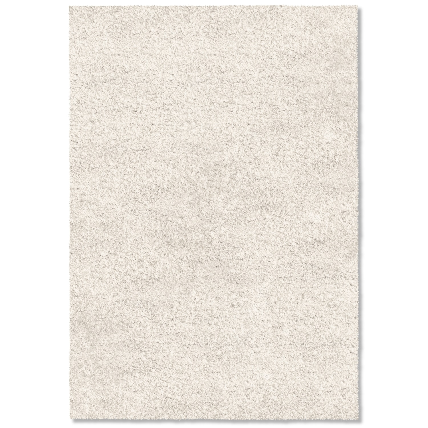 Rugs - Comfort White Shag Area Rug (8' x 10')