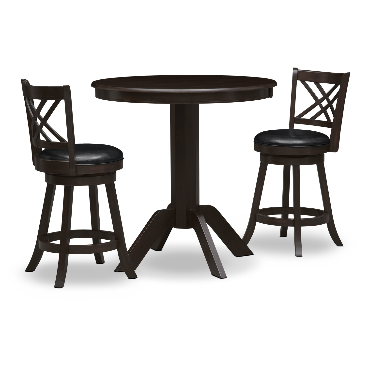 Dining Room Furniture - Concord Merrimac 3 Pc. Counter-Height Dinette