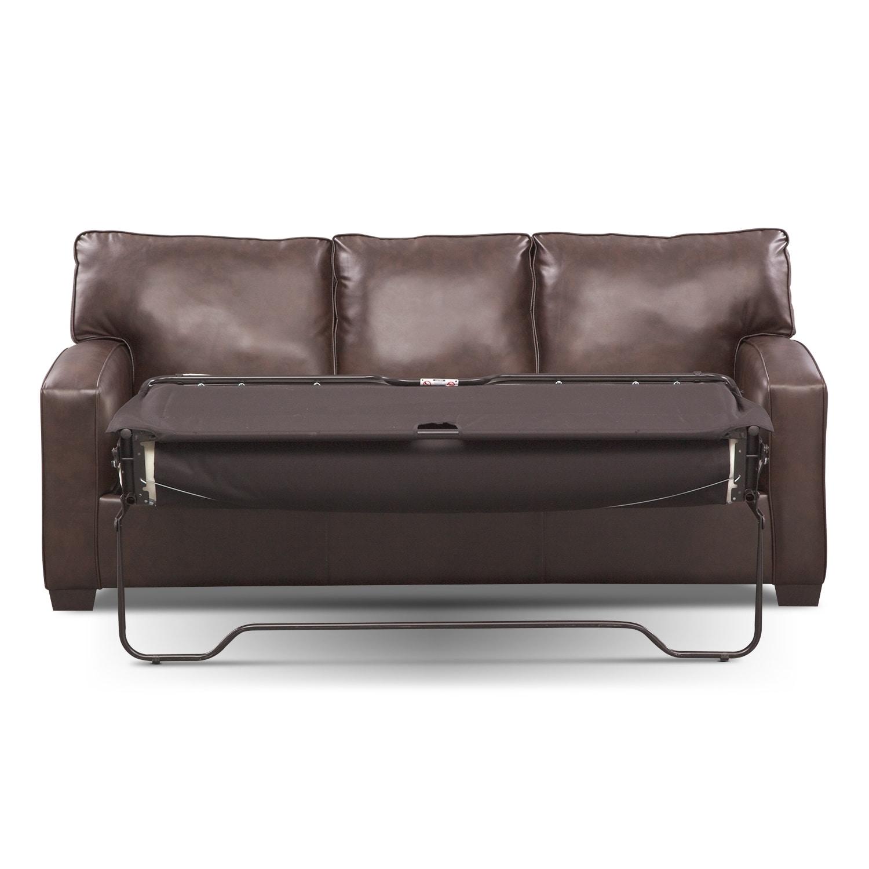 Brookline Queen Memory Foam Sleeper Sofa Brown American  ~ Leather Memory Foam Sleeper Sofa