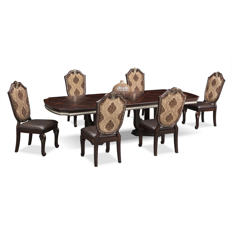 American Signature Furniture Monte Cristo Dining Room 7 Pc .