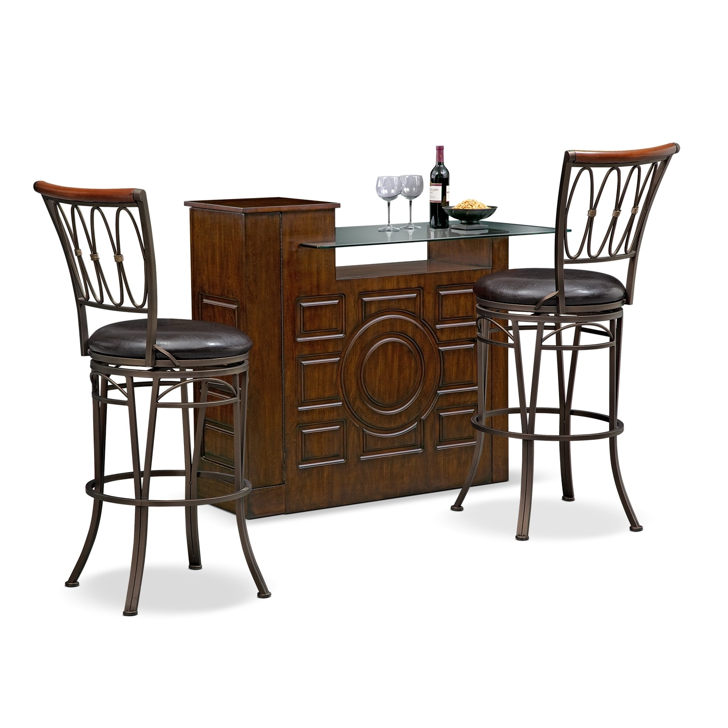 Accent and Occasional Furniture - Origins Blake 3 Pc. Bar Set