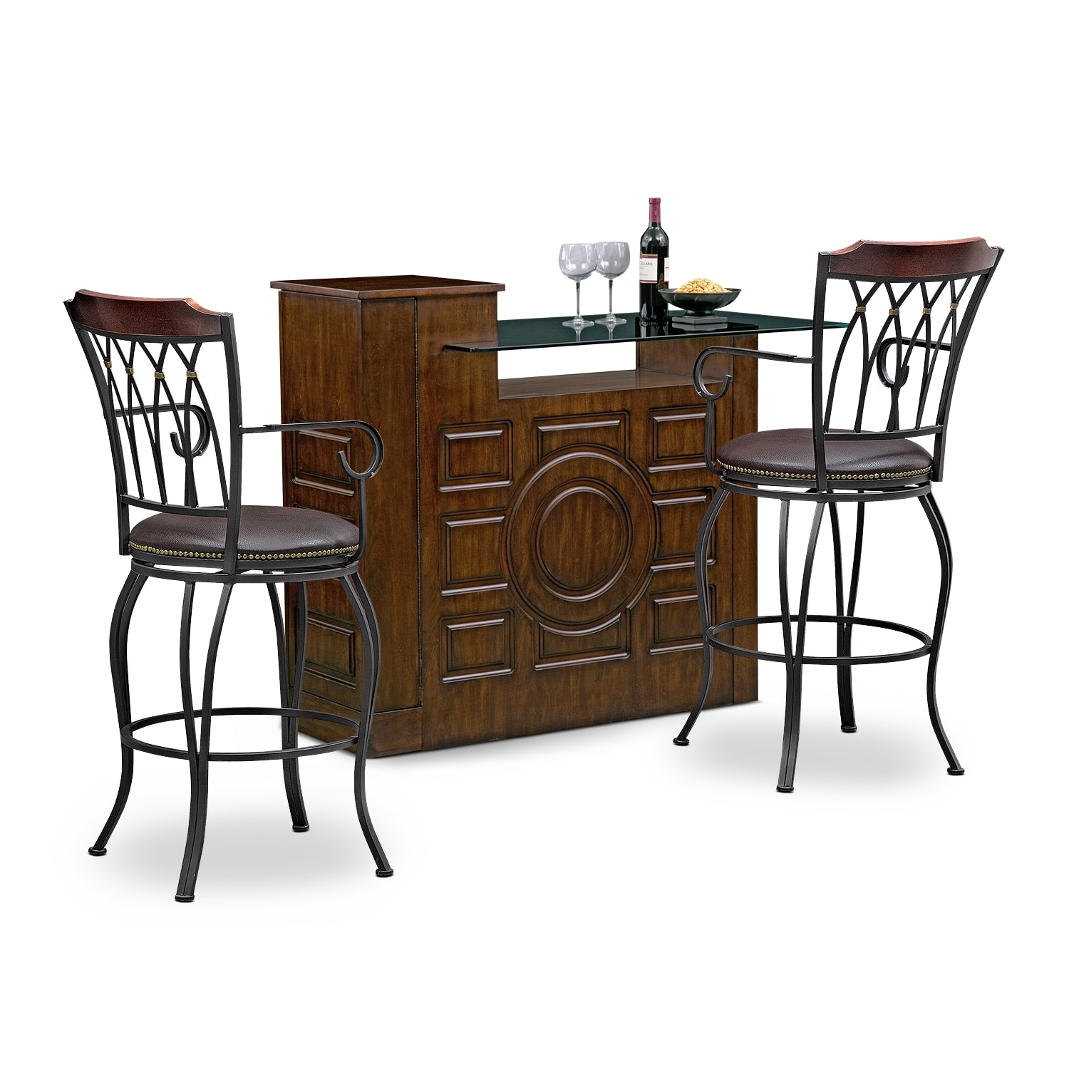 Accent and Occasional Furniture - Origins Winfield 3 Pc. Bar Set