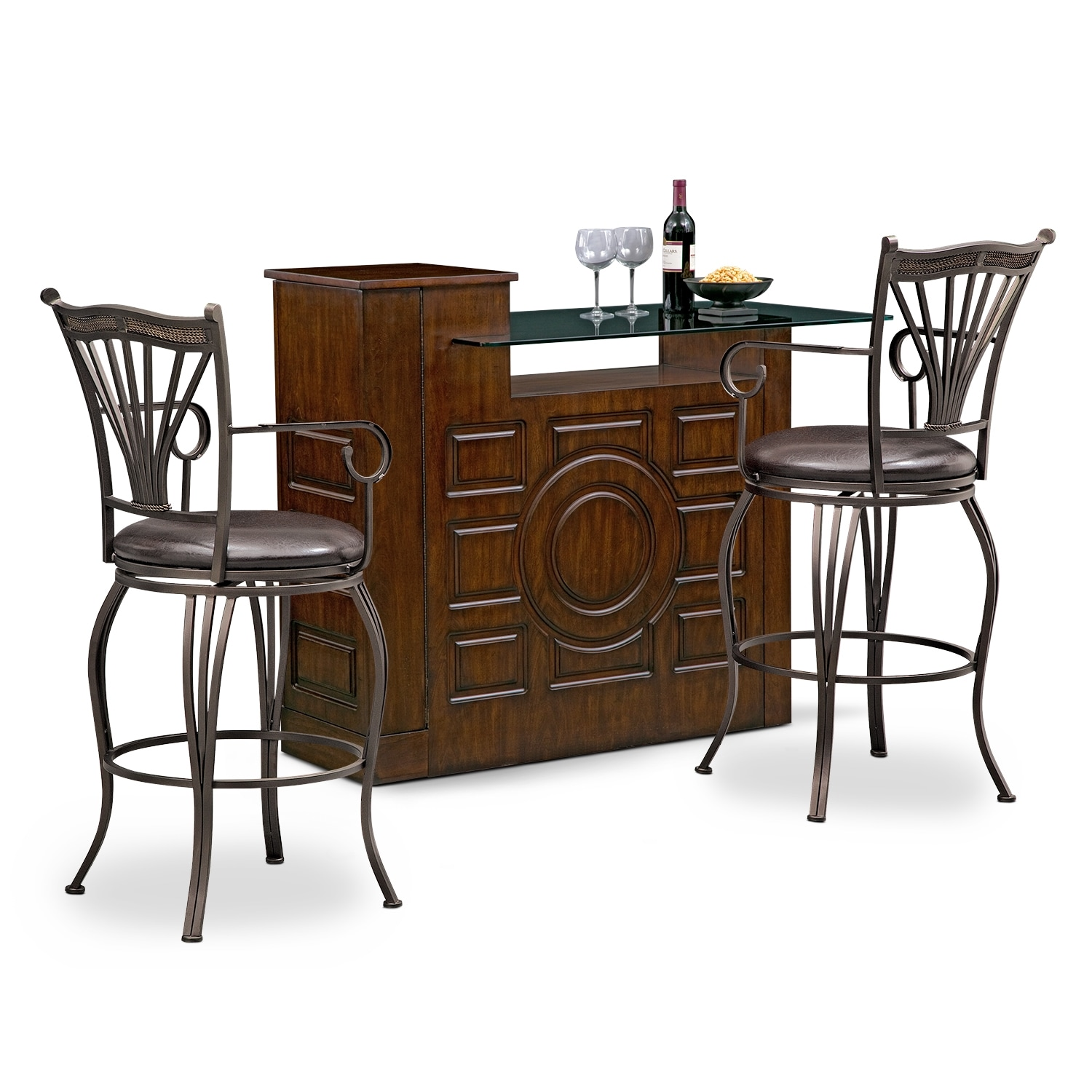 Accent and Occasional Furniture - Origins Morgan 3 Pc. Bar Set