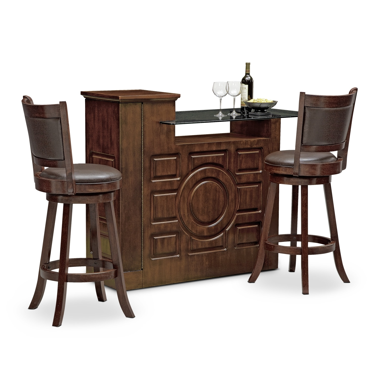 Accent and Occasional Furniture - Origins Everly 3 Pc. Bar Set