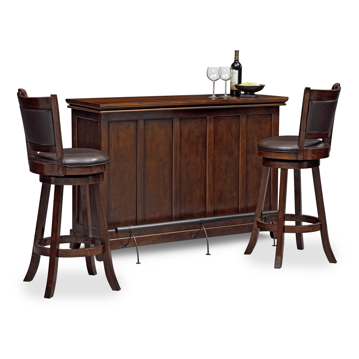 Accent and Occasional Furniture - Carlton Everly 3 Pc. Bar Set