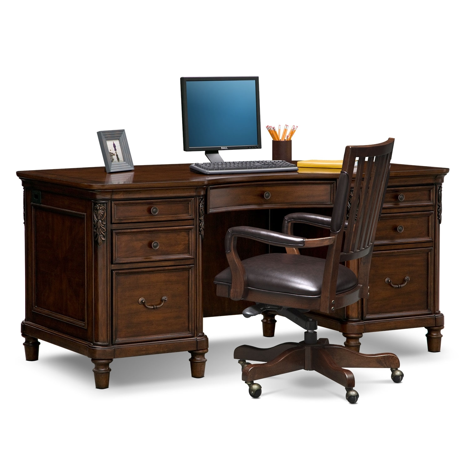 Strange Ashland Executive Desk And Chair Set Short Links Chair Design For Home Short Linksinfo