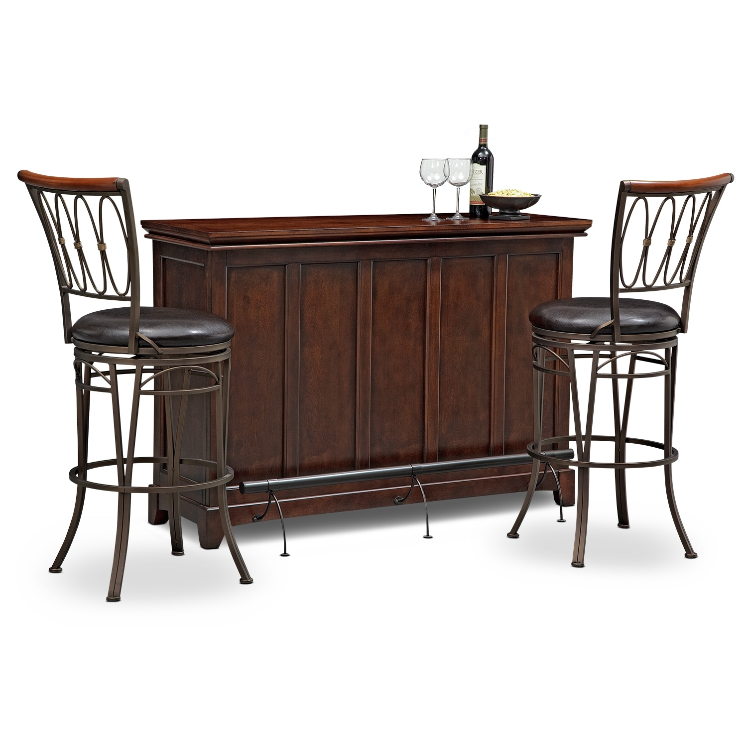 Accent and Occasional Furniture - Carlton Blake 3 Pc. Bar Set