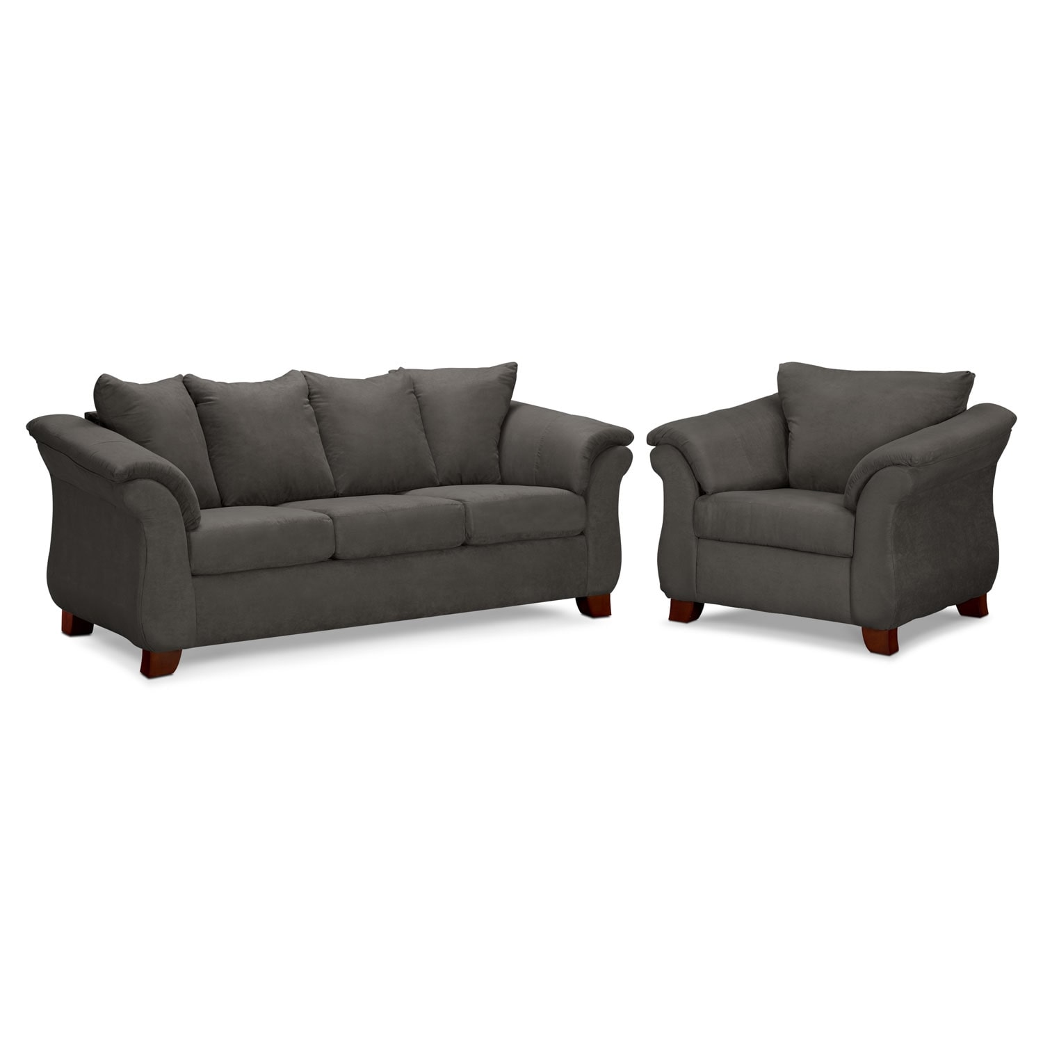 Adrian Sofa and Chair Set - Graphite