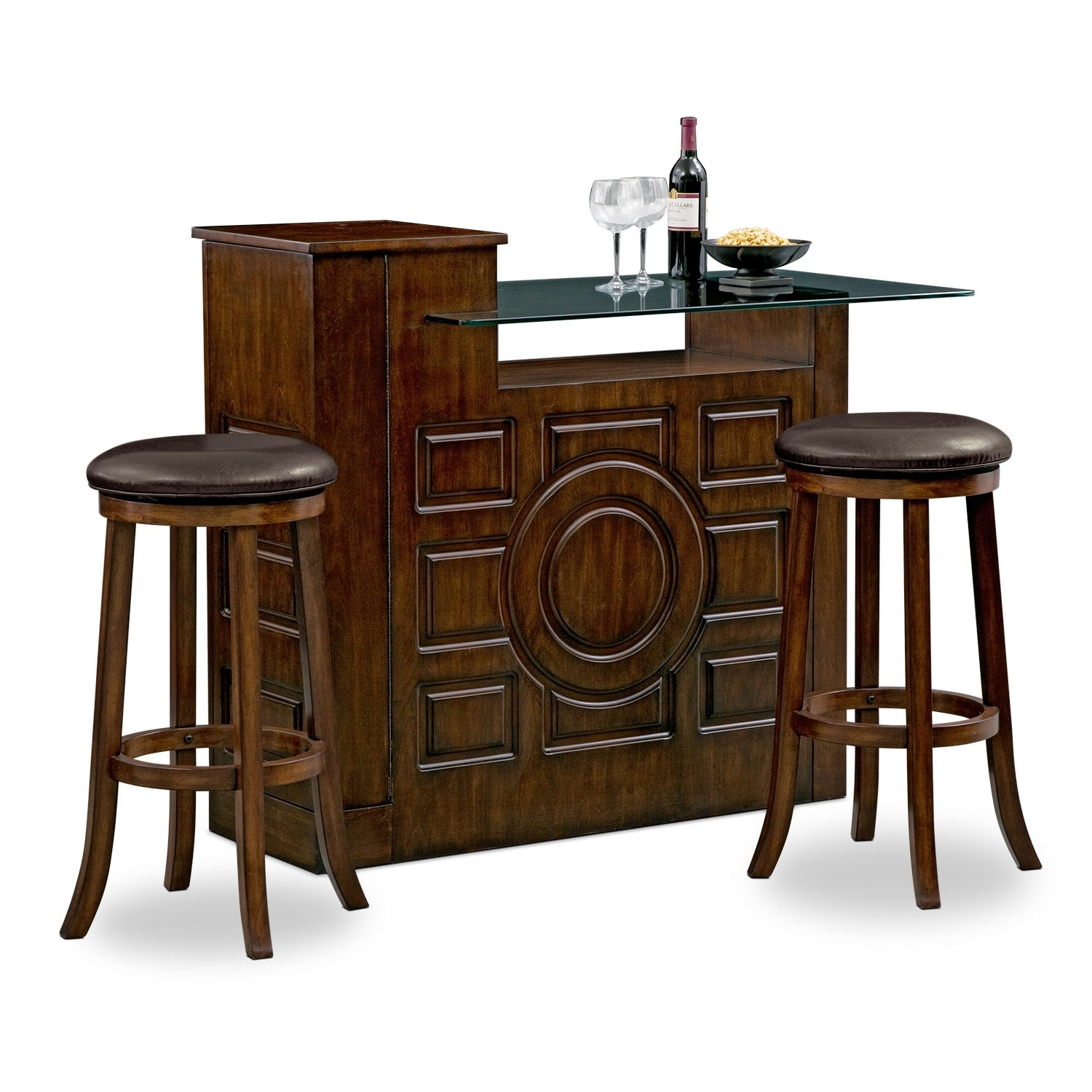 Accent and Occasional Furniture - Origins Tinker 3 Pc. Bar Set