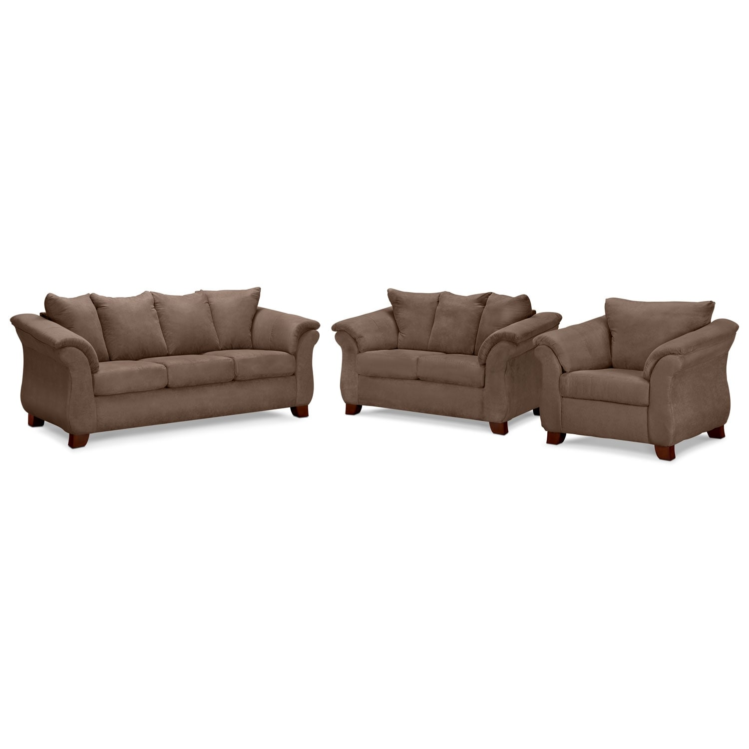 Adrian Sofa Loveseat And Chair Set American Signature Furniture