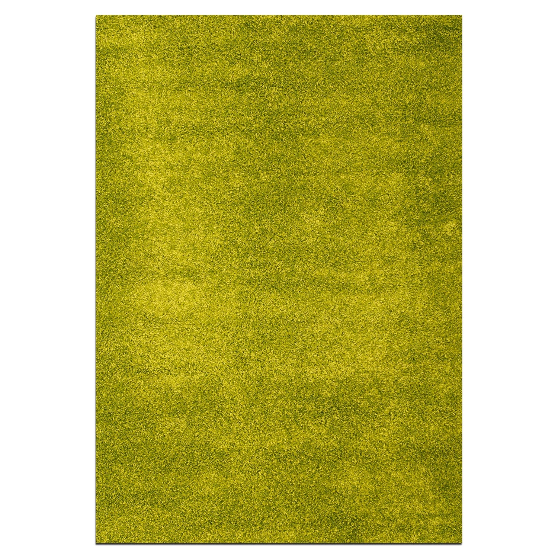 Domino Green Shag Area Rug (5' x 8')
