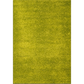 Domino Green Shag Area Rug (5' x 8')