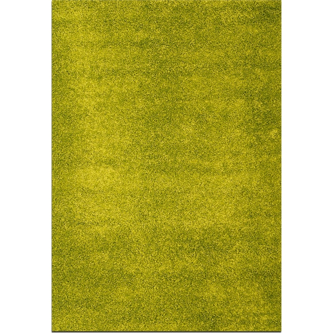 Rugs - Domino Green Shag Area Rug (8' x 10')