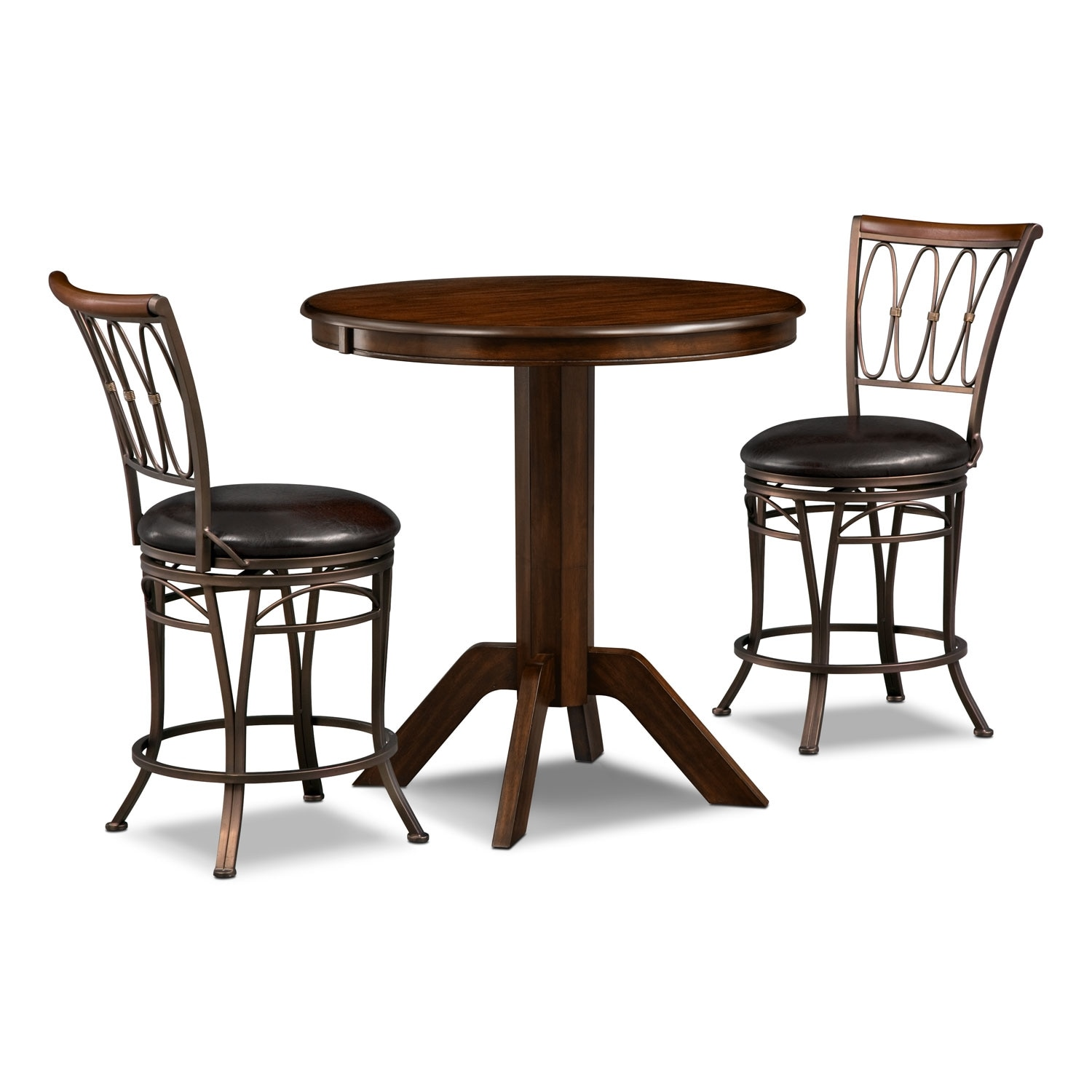Dining Room Furniture - Concord Blake 3 Pc. Counter-Height Dinette