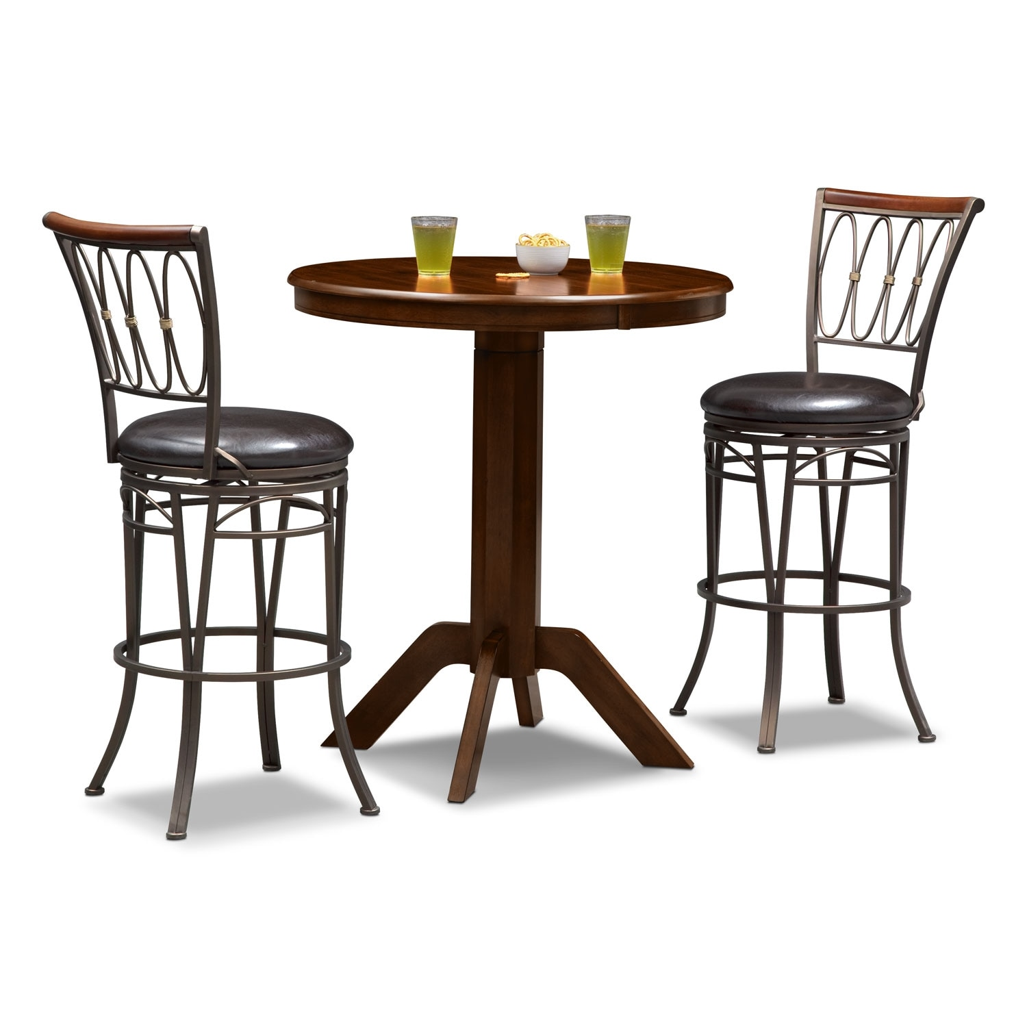 Dining Room Furniture - Concord Blake 3 Pc. Bar-Height Dinette