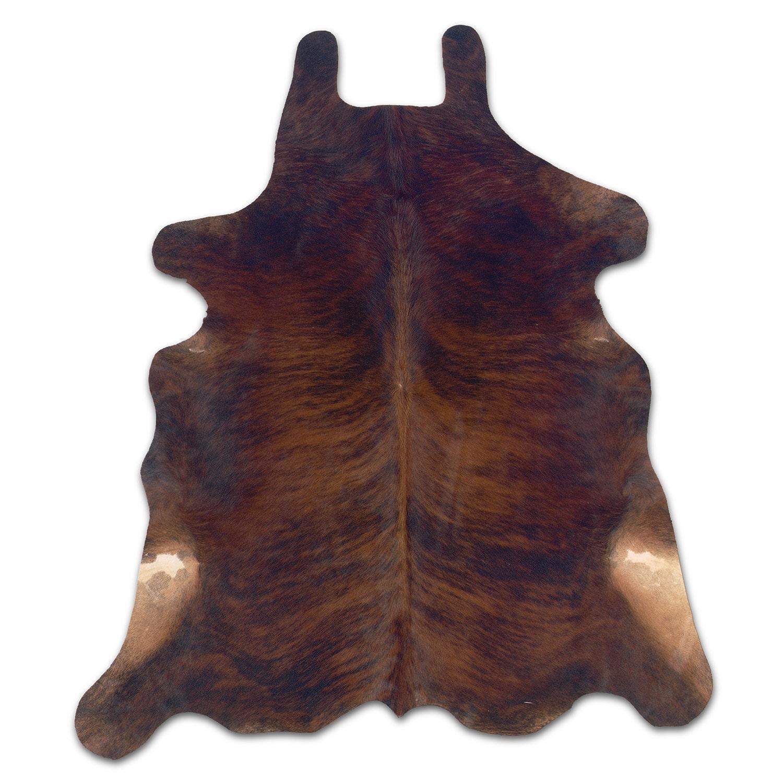 Rugs - Cowhide 5' x 7' Area Rug - Dark Brindle